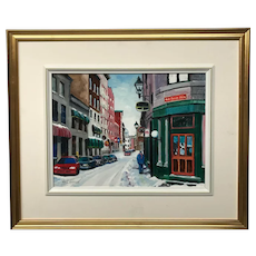 William E. Morris Rue Saint Paul Painting