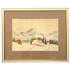 Canadian Norwell Graham Noble Winter Scene
