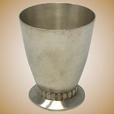 Art Deco French Sterling Silver Beaker