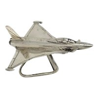 Sterling Silver Miniature Airplane BAZ Italy