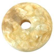 Archaic White Jade Bi Disk