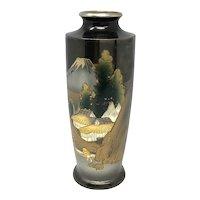 Japanese Enameled Inlaid Signed Vases