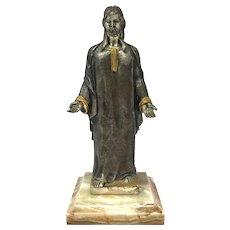 Giuseppe Vasari Bronze Jesus Sculpture