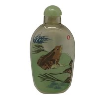 Asian Chinese Painted Snuff Bottle