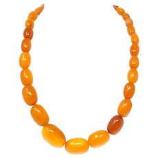 Natural Baltic Butterscotch Amber Beaded Necklace