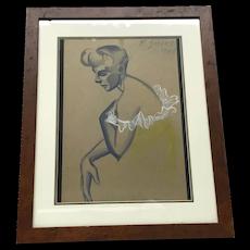 Everett L. Shinn Lady's Portrait Painting