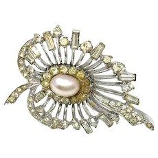 M. Boucher Art Deco Heart Shaped Brooch