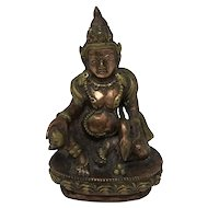 Chinese Copper Alloy Sculpture of Buddah