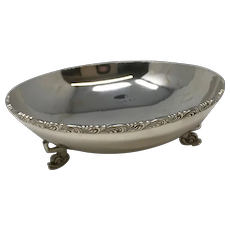 925 Sterling Silver Hand Made Footed Bowl
