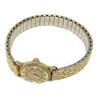 Longines 14k Gold Ladies Mystery Dial Watch