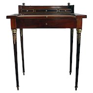 Paul Sormani Paris Cuban Mahogany Small Desk with Bronze Mounts