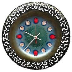 Studio Cellini Rame d'Arte Pesaro Enamel Clock