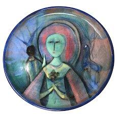 Polia Pillin Mid Century Art Pottery Plate