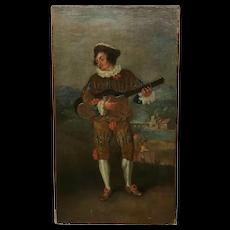 Followers of Jean Antoine Watteau Le Guitarist Painting