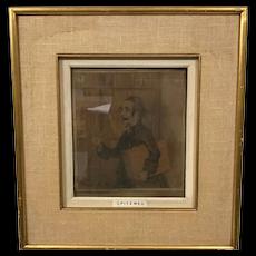Carl Spitzweg Gentleman in a Library Painting