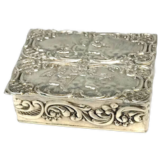 Sterling Silver London Pill Box