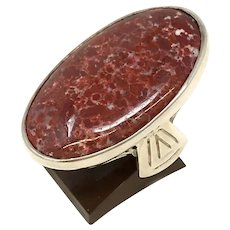Sterling Silver Ladies Agate Ring size 7