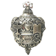 Judaica 17th-18th Century Silver Case