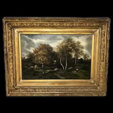 French Narcisse Virgile Diaz de la Pena Landscape at Fontainbleau Painting