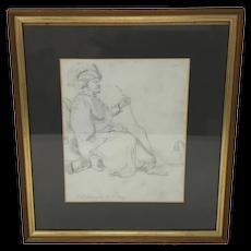 Ramsey Richard Reinagle Orientalist Pencil Drawing