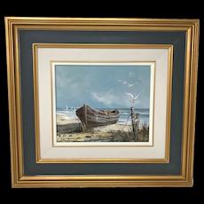 Canadian Claude Langevin Seashore Painting