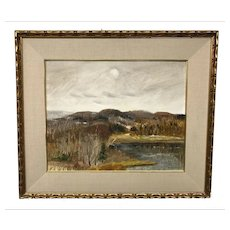 Canadian Louis Muhlstock Landscape Painting