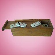 Circa 1884 Miniature Boxed Set of Dominoes