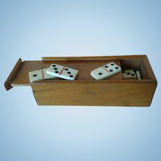 Circa 1884 Miniature Boxed Set of Dominoes