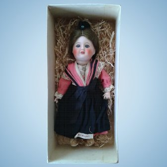"All Original in Box French 7.5"" Fully Jointed Bebe"