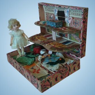 French Childs Sewing Presentation Box