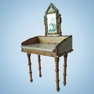 Antique French Bamboo Vanity/Dressing Table