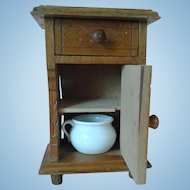 Antique Petitie French Fashion Commode w/Chamber Pot