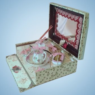 Antique French Toilette/Vanity Presentation Box for French Fashions or Bebes.