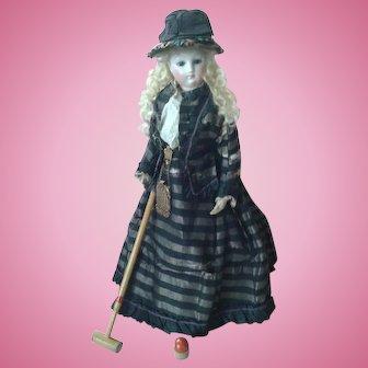 Original Antique Boxed Set of Croquet for Doll