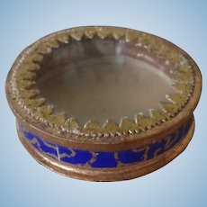 Antique French Glass Lid Box