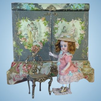 All-Bisque Mignonette with Wardrobe in Display Box