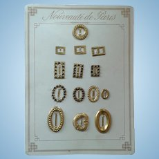 Nouveaute' de Paris Card of Buckles