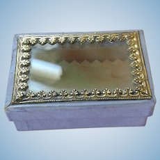 French Glass Lid Box