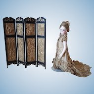 Vintage Doll Screen For Mignonettes