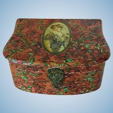 Antique Victorian Christmas Box - Free Shipping