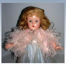 """Vintage Effanbee 18"""" Little Lady in formal"""