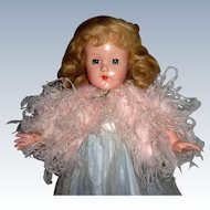 "Vintage Effanbee 18"" Little Lady in formal"