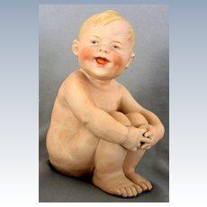 German Gebruder Heubach Nude Boy Holding his Knees