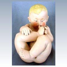 German Gebruder Heubach Rarer Nude Baby Sucking Toe