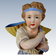 "17"" Bisque Boy Carrying Basket French"