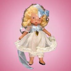 "Nancy Ann Storybook Doll Molded Sock ""Lucy Locket:"" box"