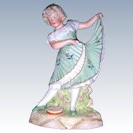 "12"" Gebruder Heubach ""Dancing Girl"" Figurine"