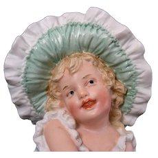 "Gebruder Heubach ""Darling Bonnet Girl"""