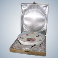 Vintage Limoges Porcelain Baby Warming Dish in Presentation Box