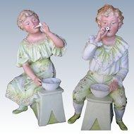 "Gebruder Heubach ""Bubble Blowing Child Pair"""